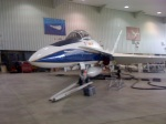 One of NASA's F-18s (I think) in its hangar