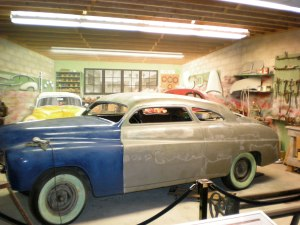 An exhibit showing off L.A.'s grand tradition of customizing old cars