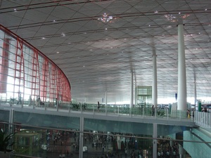 Sir Norman Foster's airport terminal in Beijing (flickr SillyJilly)