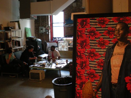 Kurt and Kehinde in the artist's studio