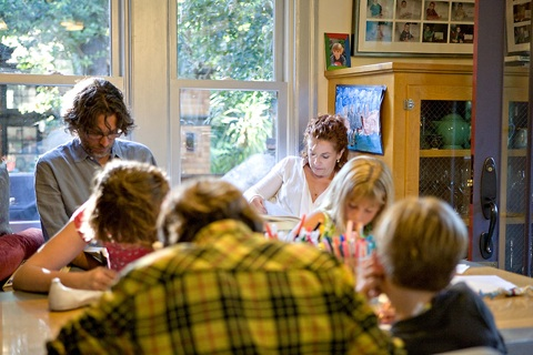 Michael Chabon, Ayelet Waldman, and their four children