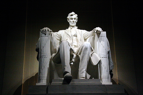 Lincoln Memorial. But his memorial in Washington